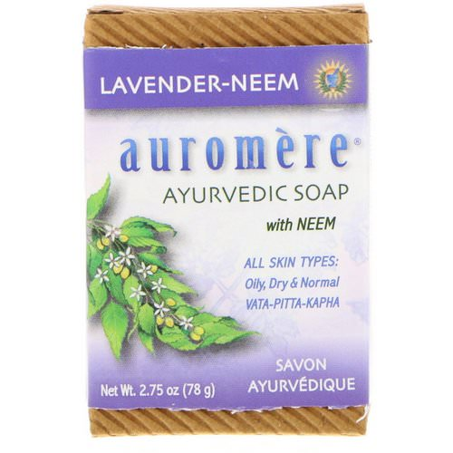 Auromere, Ayurvedic Soap With Neem, Lavender-Neem, 2.75 oz (78 g) Review