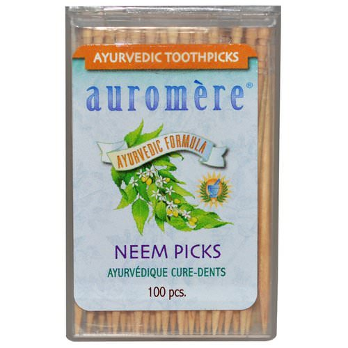 Auromere, Ayurvedic Toothpicks, Neem Picks, 100 Pieces Review