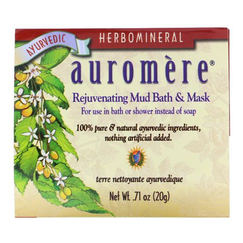 Auromere, Rejuvenating Mud Bath & Mask, .71 oz (20 g) Review