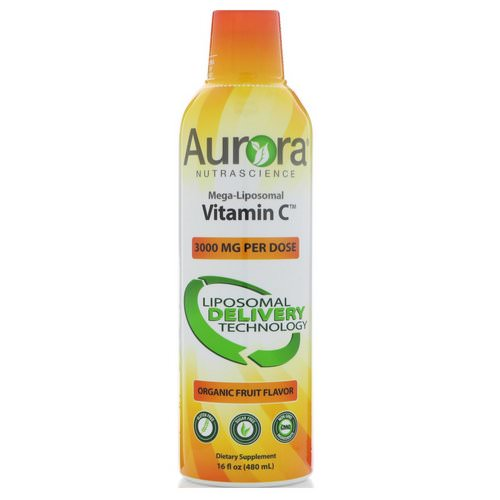 Aurora Nutrascience, Mega-Liposomal Vitamin C, Organic Fruit Flavor, 3000 mg, 16 fl oz (480 ml) Review
