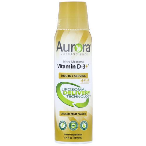 Aurora Nutrascience, Micro-Liposomal Vitamin D-3+, Organic Fruit Flavor, 3,000 IU, 5.4 fl oz (160 ml) Review