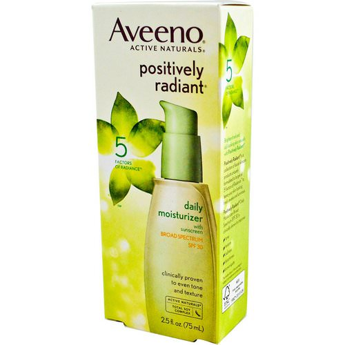 Aveeno, Active Naturals, Positively Radiant, Daily Moisturizer, SPF 30, 2.5 fl oz (75 ml) Review