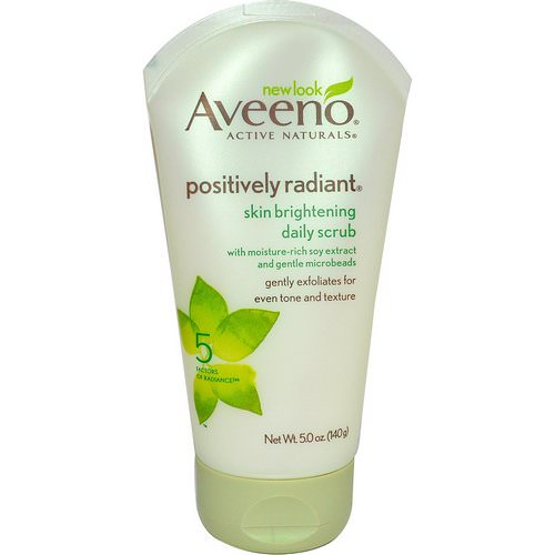 Aveeno, Active Naturals, Positively Radiant, Skin Brightening Daily Scrub, 5.0 oz (140 g) Review