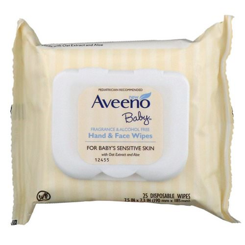 Aveeno, Baby Hand & Face Wipes, 25 Disposable Wipes Review