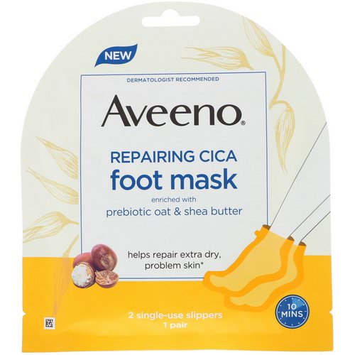 Aveeno, Repairing Cica Foot Mask, 2 Single-Use Slippers Review