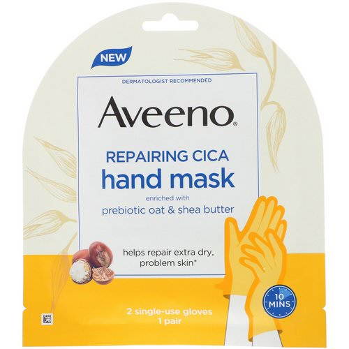 Aveeno, Repairing Cica Hand Mask, 2 Single-Use Gloves Review