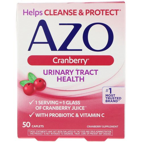 Azo, Urinary Tract Health, Cranberry, 50 Caplets Review