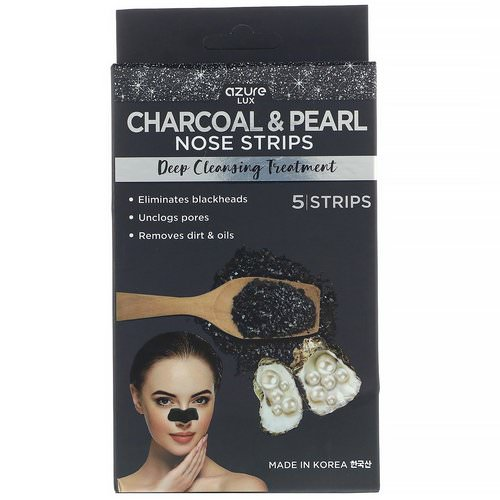 Azure Kosmetics, Charcoal & Pearl, Nose Strips, Deep Cleansing Treatment, 5 Strips Review