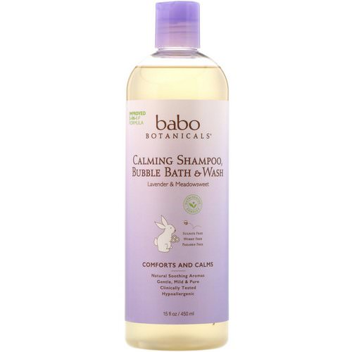 Babo Botanicals, Calming Shampoo, Bubble Bath & Wash, Lavender & Meadowsweet, 15 fl oz (450 ml) Review