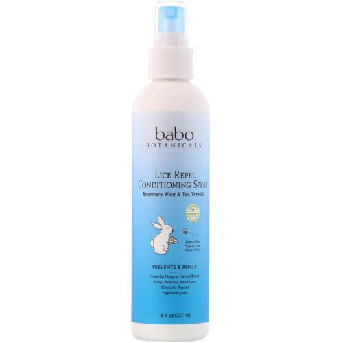 Babo Botanicals, Lice Repel Conditioning Spray, 8 fl oz (237 ml) Review