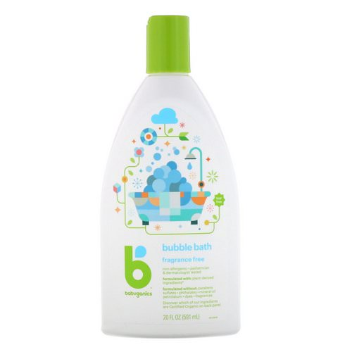 BabyGanics, Bubble Bath, Fragrance Free, 20 fl oz (591 ml) Review