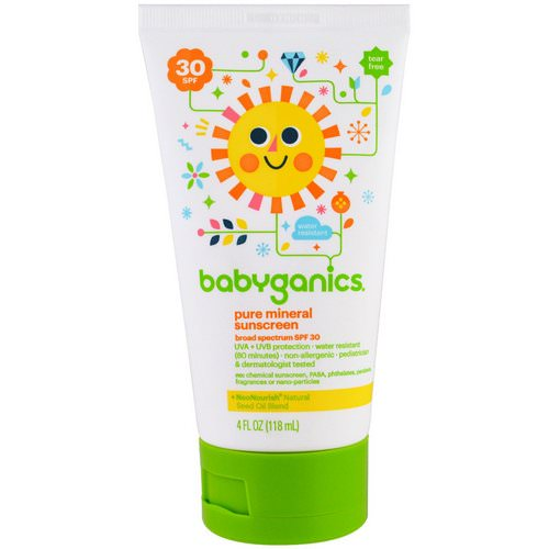 BabyGanics, Pure Mineral Sunscreen Lotion, SPF 30, 4 oz (118 ml) Review
