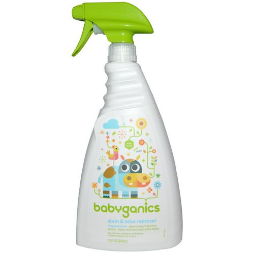BabyGanics, Stain & Odor Remover, Fragrance Free, 32 fl oz (946 ml) Review