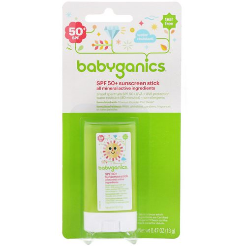 BabyGanics, Sunscreen Stick, SPF 50+, 0.47 oz (13 g) Review