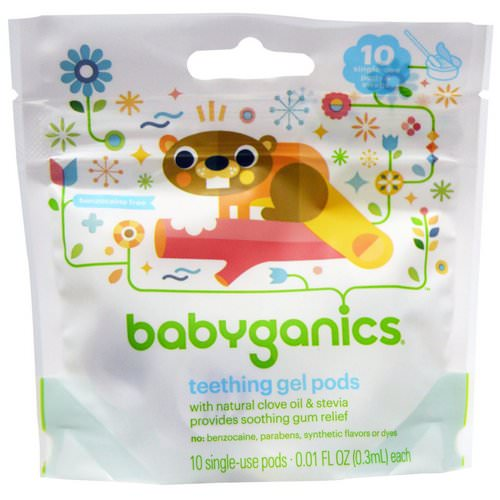 BabyGanics, Teething Gel Pods, 10 Single-Use Pods, 0.01 fl oz (0.3 ml) Each Review