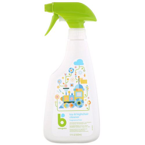 BabyGanics, Toy & Highchair Cleaner, Fragrance Free, 17 fl oz (502 ml) Review
