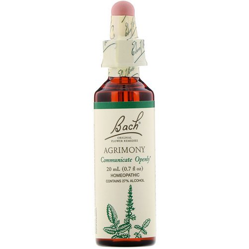 Bach, Original Flower Remedies, Agrimony, 0.7 fl oz (20 ml) Review