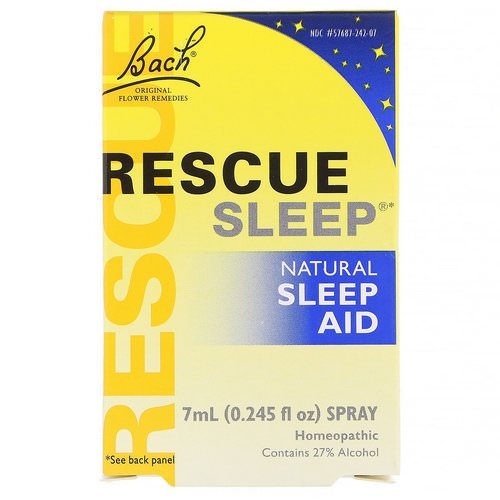 Bach, Original Flower Remedies, Rescue Sleep, Natural Sleep Aid Spray, 0.245 fl oz (7 ml) Review