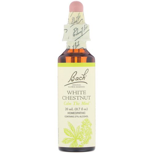 Bach, Original Flower Remedies, White Chestnut, 0.7 fl oz (20 ml) Review