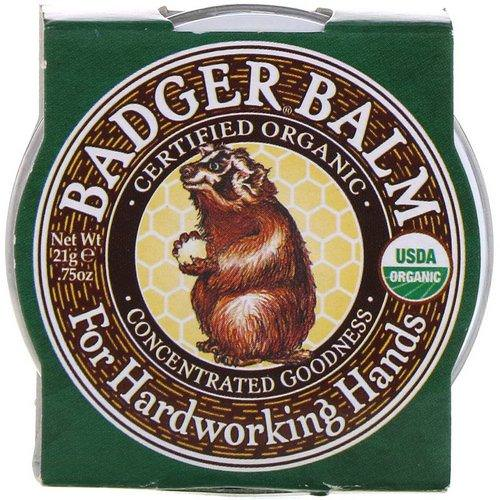Badger Company, Badger Balm, For Hardworking Hands, .75 oz (21 g) Review