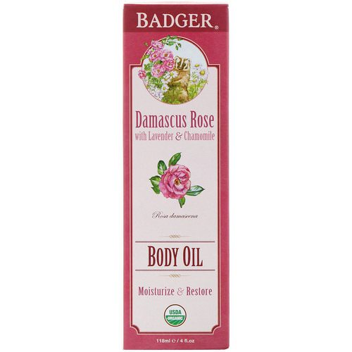 Badger Company, Body Oil, Damascus Rose, 4 fl oz (118 ml) Review