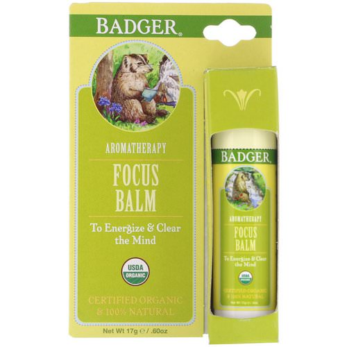 Badger Company, Focus Balm, Grapefruit & Ginger, .60 oz (17 g) Review