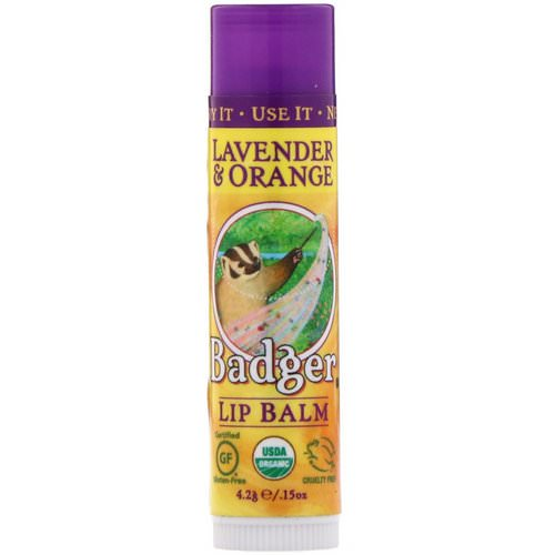 Badger Company, Lip Balm, Lavender & Orange, .15 oz (4.2 g) Review