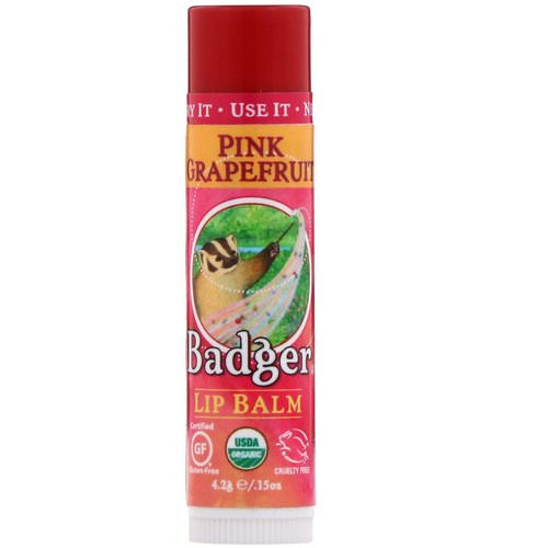 Badger Company, Organic, Lip Balm, Pink Grapefruit, .15 oz (4.2 g) Review