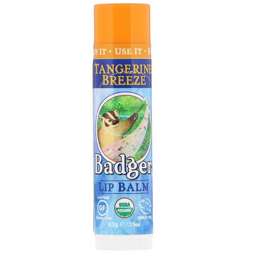 Badger Company, Lip Balm, Tangerine Breeze, .15 oz (4.2 g) Review
