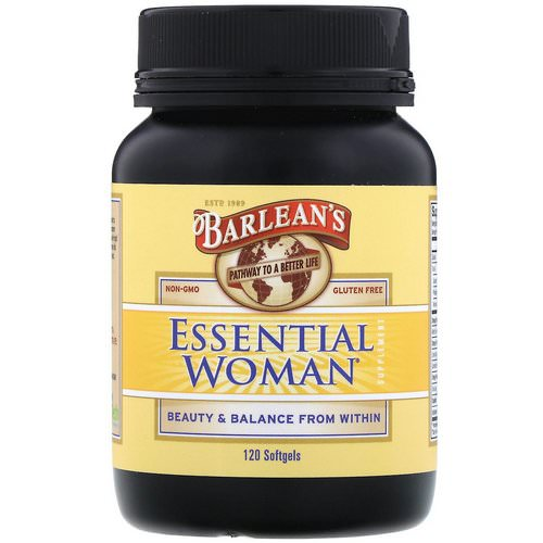 Barlean's, Essential Woman Supplement, 120 Softgels Review