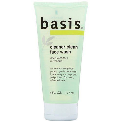 Basis, Cleaner Clean Face Wash, 6 fl oz (177 ml) Review