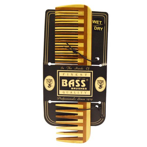Bass Brushes, Large Wood Comb, Wide Tooth/ Fine Combination Review