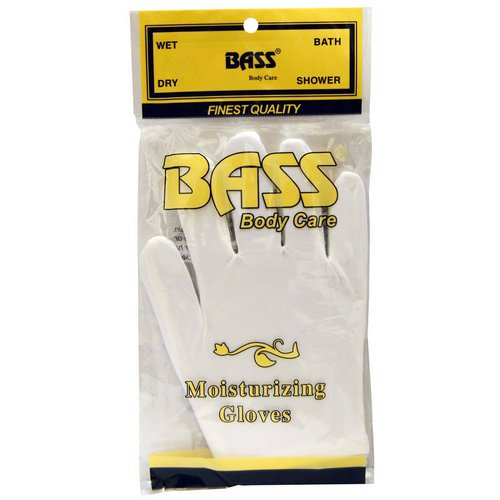 Bass Brushes, Moisturizing Gloves, White, 1 Pair Review