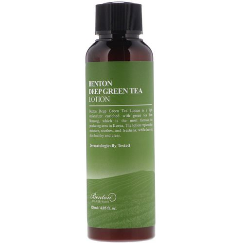 Benton, Deep Green Tea Lotion, 4.05 fl oz (120 ml) Review