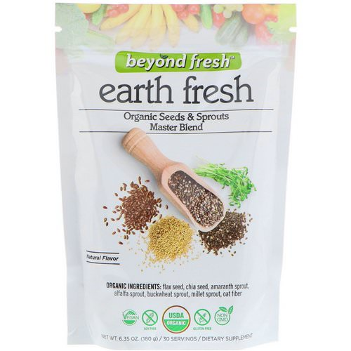 Beyond Fresh, Earth Fresh, Organic Seeds & Sprouts Master Blend, Natural Flavor, 6.35 oz (180 g) Review