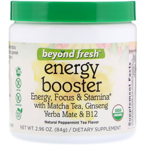 Beyond Fresh, Energy Booster, Energy, Focus & Stamina, Natural Peppermint Tea Flavor, 2.96 oz (84 g) Review