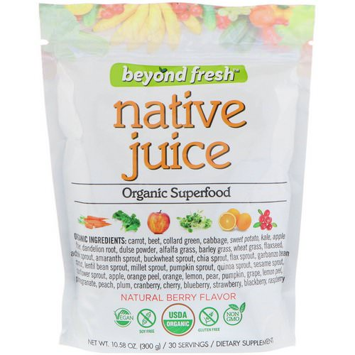 Beyond Fresh, Native Juice, Organic Superfood, Natural Berry Flavor, 10.58 oz (300 g) Review