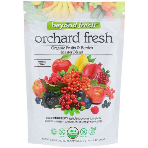 Beyond Fresh, Orchard Fresh, Organic Fruits & Berries Master Blend, Natural Flavor, 6.35 oz (180 g) Review