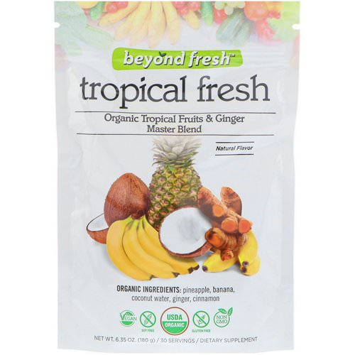 Beyond Fresh, Tropical Fresh, Organic Tropical Fruits & Ginger Master Blend, Natural Flavor, 6.35 oz (180 g) Review