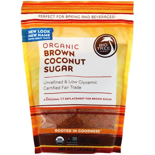 Big Tree Farms, Organic Brown Coconut Sugar, 1 lb (454 g) Review