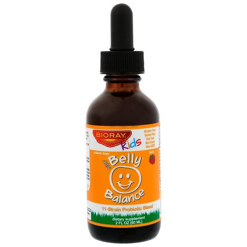 Bioray, Kids, NDF Belly Balance, 11-Strain Probiotic Blend, Berry Flavor, 2 fl oz (60ml) Review
