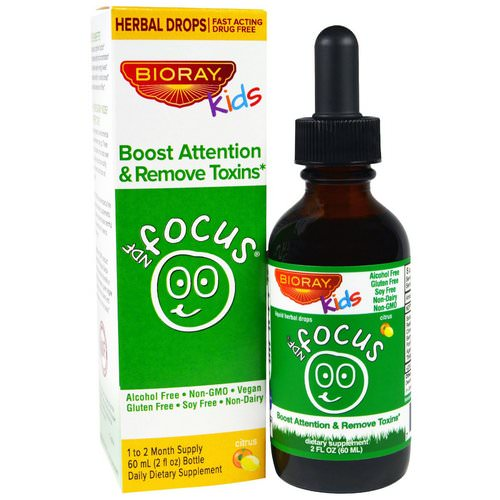 Bioray, NDF Focus, Boost Attention & Remove Toxins, Kids, Citrus Flavor, 2 fl oz. (60 ml) Review