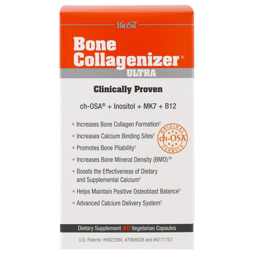 BioSil by Natural Factors, Bone Collagenizer Ultra, 40 Vegetarian Capsules Review