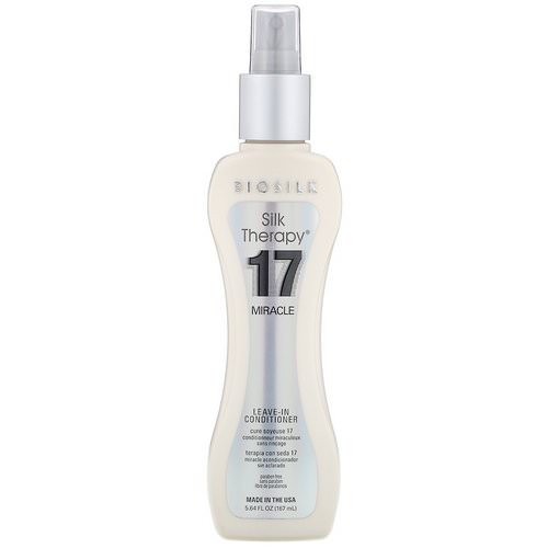 Biosilk, Silk Therapy, 17 Miracle, Leave-In Conditioner, 5.64 fl oz (167 ml) Review