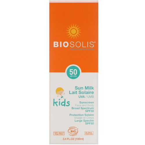 Biosolis, Sun Milk, Kids Sunscreen, SPF 50, 3.4 fl oz (100 ml) Review