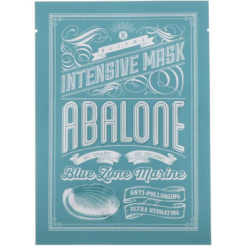 Blithe, Blue Zone Marine, Intensive Mask, Abalone, 8 Sheets Review