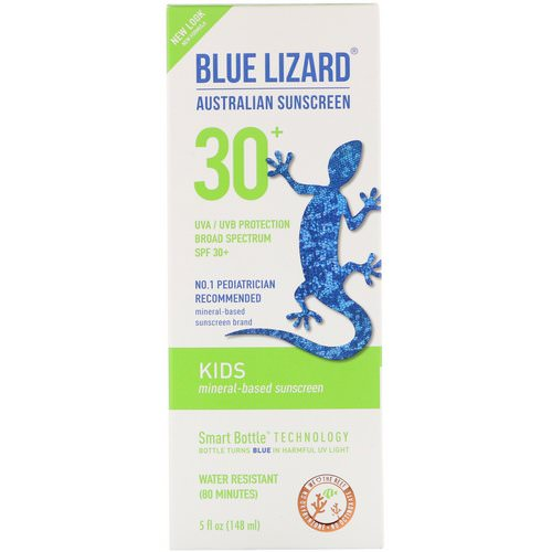 Blue Lizard Australian Sunscreen, Kids, Mineral-Based Sunscreen, SPF 30+, 5 fl oz (148 ml) Review