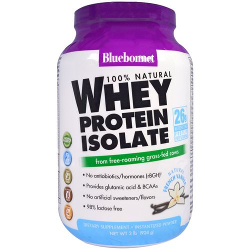 Bluebonnet Nutrition, 100% Natural Whey Protein Isolate, Natural French Vanilla, 2 lbs (924 g) Review