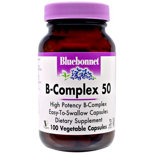 Bluebonnet Nutrition, B-Complex 50, 100 Veggie Caps Review