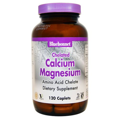 Bluebonnet Nutrition, Calcium Magnesium, Chelated, 120 Caplets Review